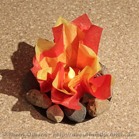How To Make Tissue Paper Flames - how to build a cfire about family crafts