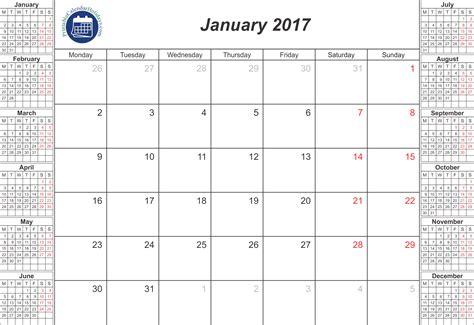 January 2017 Printable