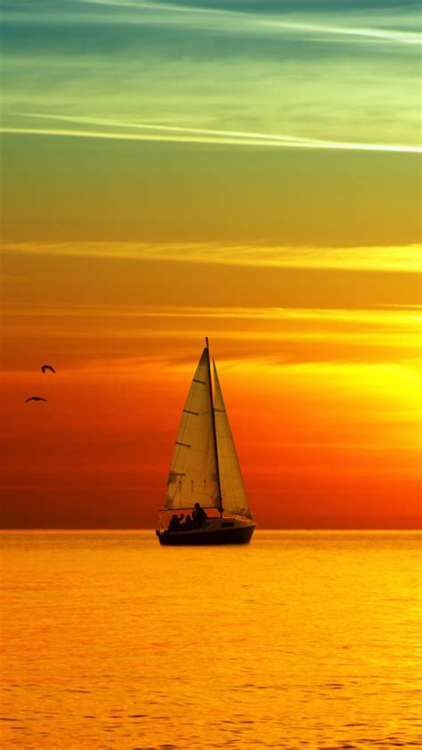 small wallpaper sunset small sailboat iphone wallpapers iphone 5 s 4 s