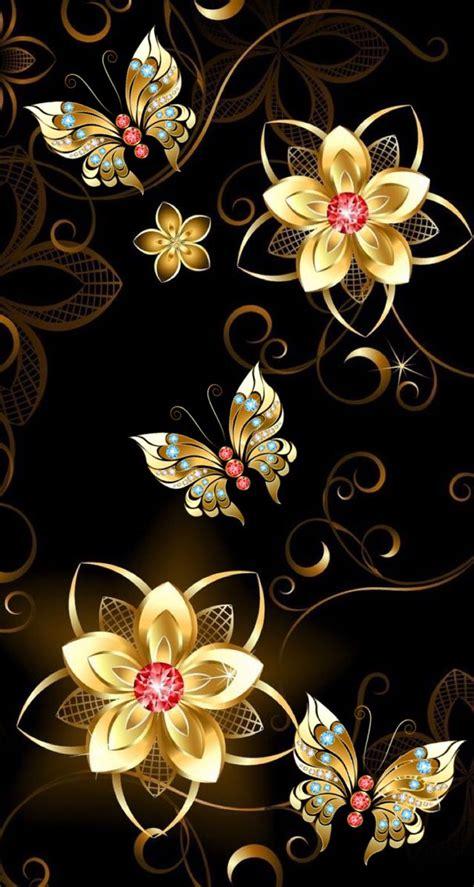 wallpaper gold butterfly b417852c16cdd6856111e524ea113850 jpg 607 215 1136 gold