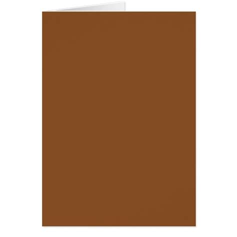 Brown Card Template by Toffee Brown Color Trend Blank Template Card Zazzle