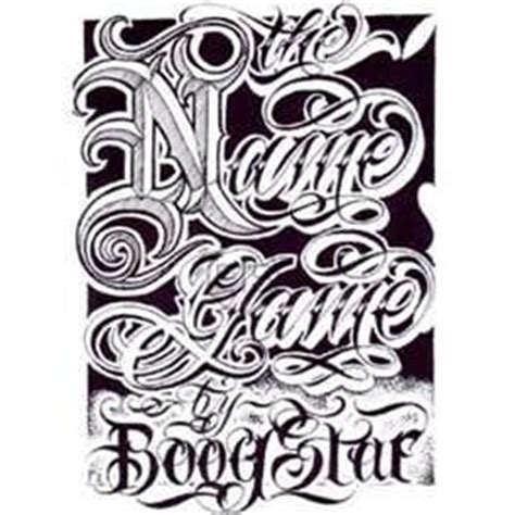 tattoo letters gangster boog name game tattoo script lettering gangster book ebay
