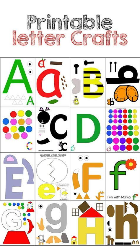 printable art projects for preschoolers these printable letter crafts are perfect for your
