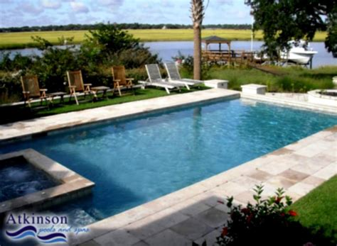 Backyard Rectangle Pools Backyard Ideas With Above Ground Spa Studio Design