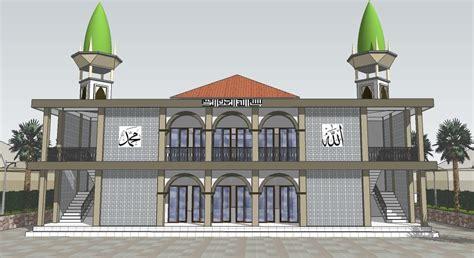 desain masjid minimalis 2 lantai desain