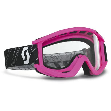 pink motocross goggles scott new mx kids 89si clear lens dirt bike youth girls