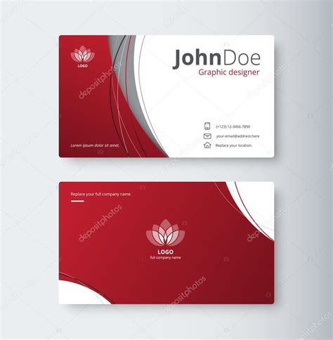 design background name card curve abstract business card background name card
