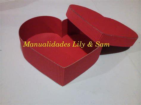 cajita en forma de corazn cajita con coraz 243 n para caja coraz 243 n en cart 243 n corrugado heart corrugated