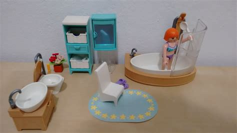 playmobil bathroom playmobil cuarto de ba 241 o bathroom youtube