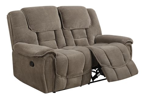 sofa mart chaign u101 taupe fabric reclining loveseat by global furniture