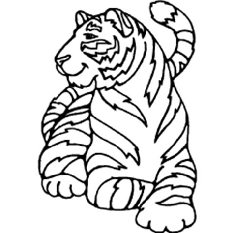 stripeless tiger coloring page stripeless tiger cartoon coloring coloring pages