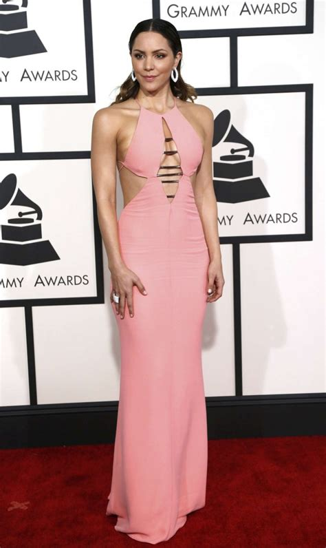 Whats Katharine Mcphees Favorite Perfume by Katharine Mcphee In Emilio Pucci At The 2015 Grammy Awards