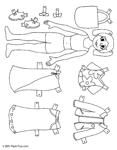 How To Make Cut Out Paper Dolls - doll paper doll paper cutouts by papertoys
