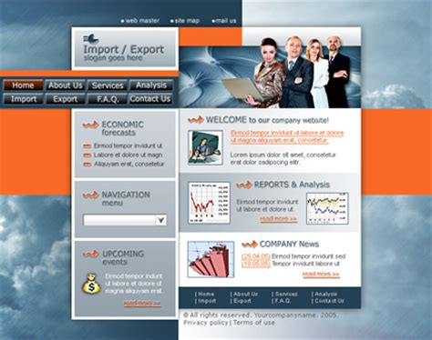 website templates for export business inroads website templates