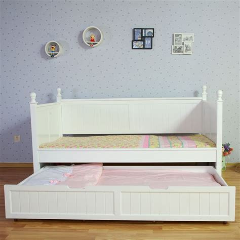White Princess Bed Frame Princess Single Bed Frame W Trundle In White Buy Trundle Beds