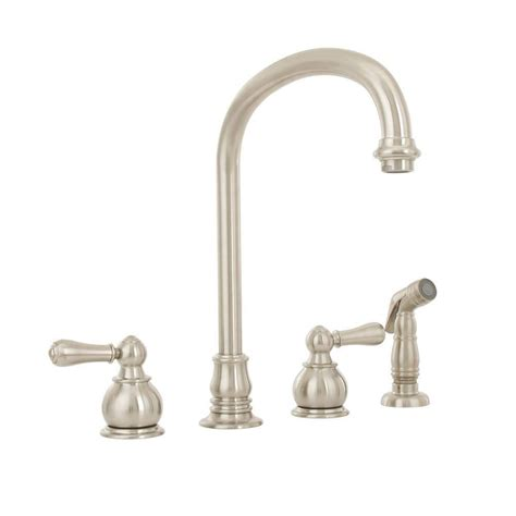 american standard kitchen faucet leaking american standard hton 2 handle standard kitchen faucet with side sprayer in brushed nickel