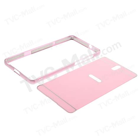 Metal Mirror Alumunium Bumper Slide Xperia C5 C5 Ultra slide on metal bumper pc plate cover for sony xperia c5 ultra e5553 ultra dual e5533 pink