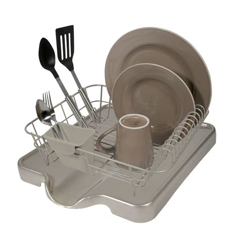 Dish Rack Drainer by Home Logic Black Small Dish Drainer Home Kitchen