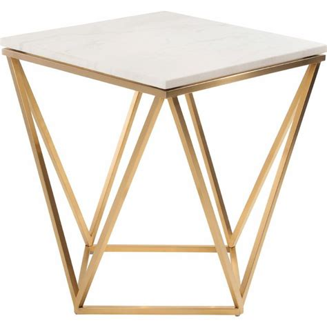 charming white coffee tables white marble gold base nuevo modern furniture side table w white marble on geometric gold brushed stainless