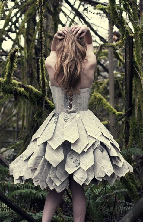 Paper Dresses - paper dress back by swimming up currents deviantart