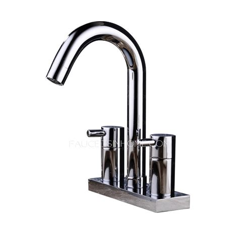 modern three rotatable brass bathroom sink faucet
