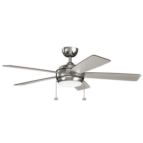 polished nickel ceiling fan kichler lighting starkk polished nickel led ceiling fan