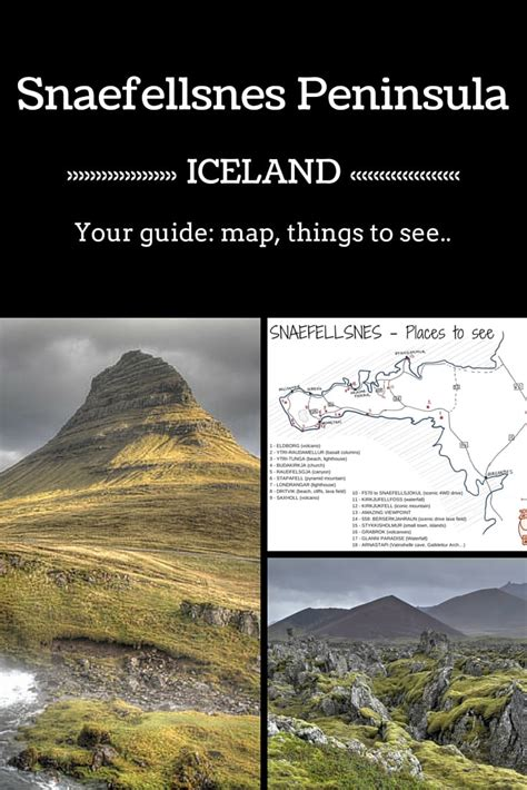 iceland the official travel guide books snaefellsnes peninsula iceland guide map places to see