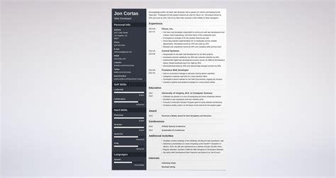 web developer resume sle complete guide 20 exles