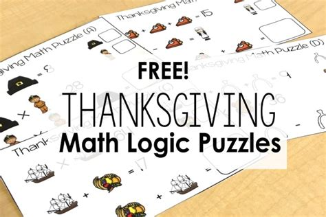 free printable thanksgiving logic puzzles free thanksgiving puzzles math logic puzzles teaching