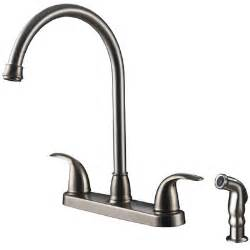 kitchen faucet sets ultra faucets two handle centerset kitchen faucet with matching side spray reviews wayfair