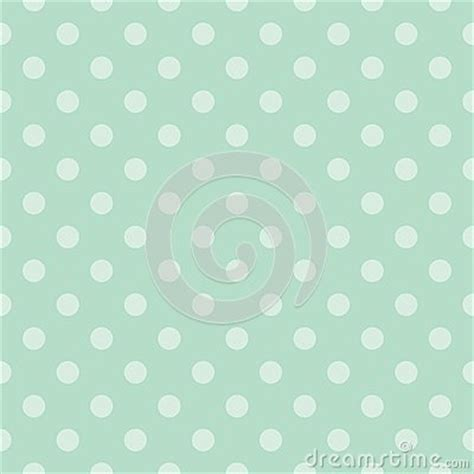 Wedding Background Tile by Tile Vector Pattern With Mint Green Polka Dots Stock