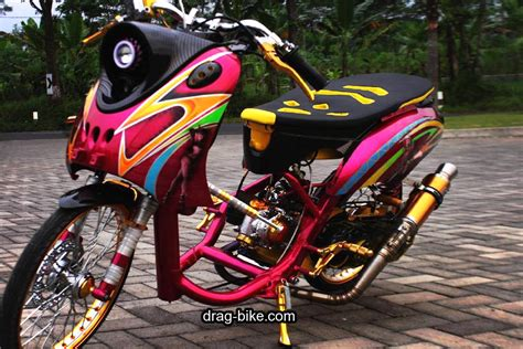 modifikasi motor racing 42 foto gambar modifikasi fino thailook style simple