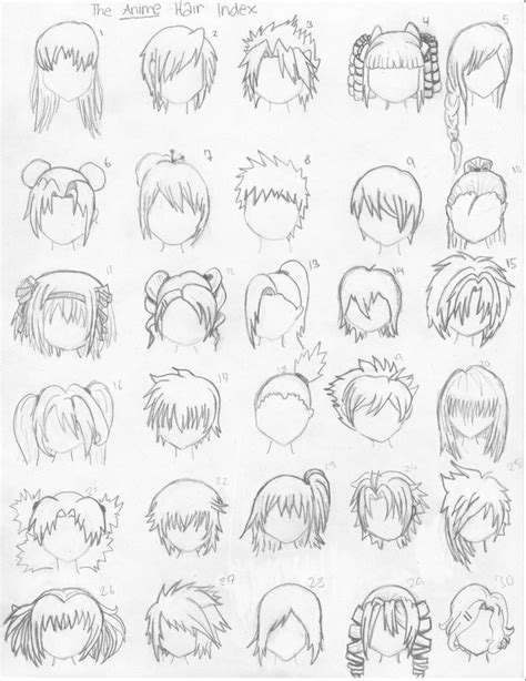 anime hairstyles to draw anime hair styles