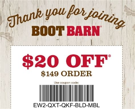 boot barn coupon codes 20 30 thursday boot co coupon code save 20 w promo code