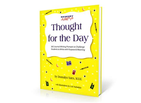 thoughts for books thought for the day writing promptsmemory joggers