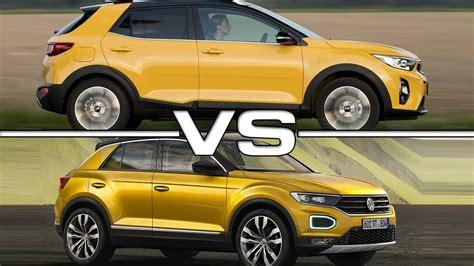 Kia Volkswagen by 2018 Kia Stonic Vs 2018 Volkswagen T Roc