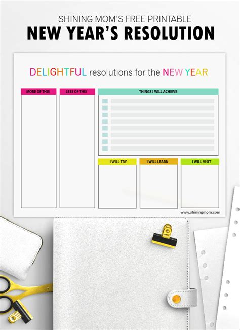 new year box template write your new year s resolution here