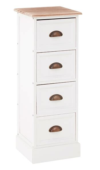 connecticut white narrow chest  drawers  white