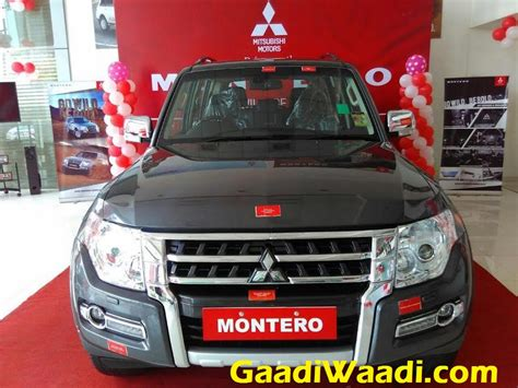 mitsubishi india mitsubishi montero relaunched in india at rs 68 62 lakh