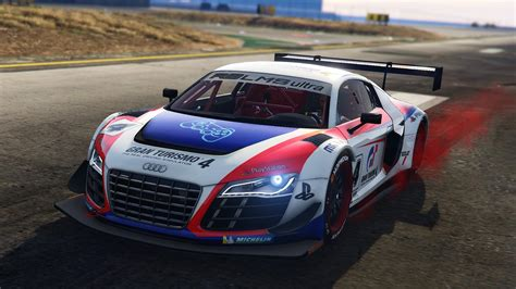 audi r8 lms ultra racecar add on gta5 mods