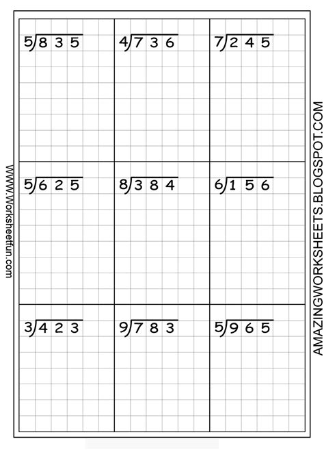 printable graph paper for division this was suggested for long division but of course could