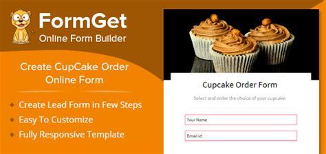 create cupcake order form  bakeries cake shops formget