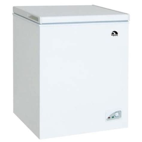 igloo 5 2 cu ft chest freezer in white frf452 the home