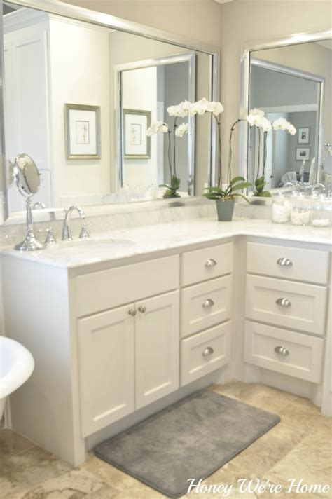honey  home master bath sherwin williams anew gray