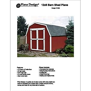 barngambrel storage shed project plans design