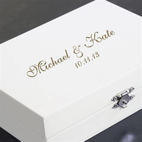 Personalized Ring Bearer Pillow Keepsake Box