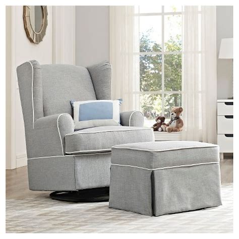 wingback swivel rocking chair eddie bauer 174 upholstered wingback swivel glider gray