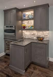 Brookhaven Kitchen Cabinets Functional Bar Brookhaven Cabinets In Vintage Slate Kitchens Cabinets Slate