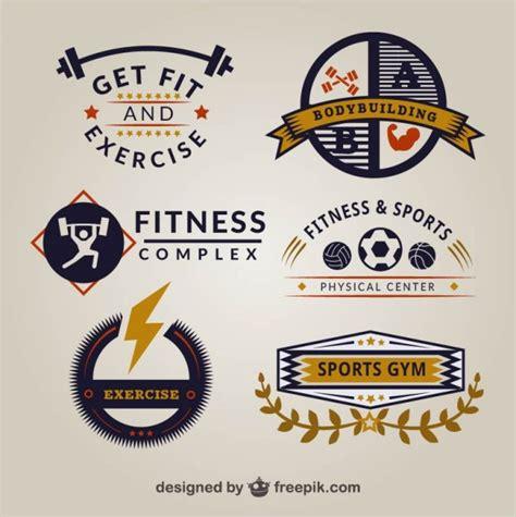 imagenes logos fitness plantillas de logos de gimnasio retro descargar vectores