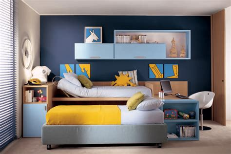 kids bedroom color ideas royal blue wall color kids room with yellow bed cover